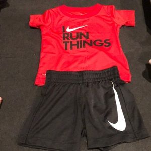 Nike dri fit set for 12 month old t-shirt shorts